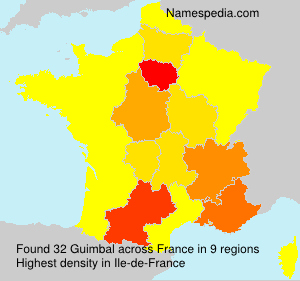 Surname Guimbal in France
