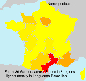 Surname Guimera in France