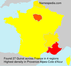 Surname Guirat in France