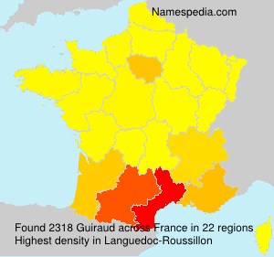 Surname Guiraud in France