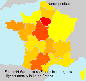 Surname Guire in France