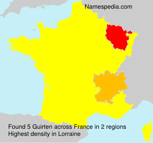 Surname Guirten in France