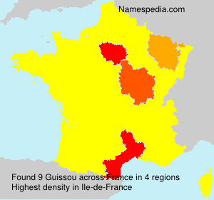 Surname Guissou in France