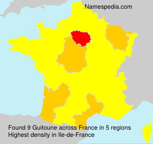 Surname Guitoune in France