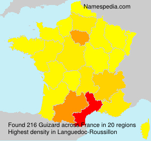 Surname Guizard in France