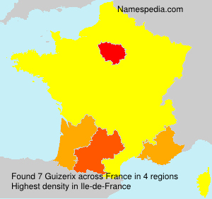 Surname Guizerix in France
