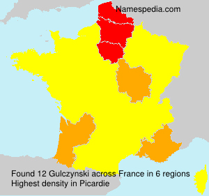 Surname Gulczynski in France