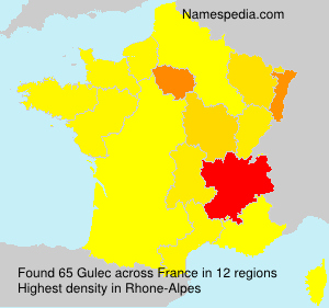 Surname Gulec in France