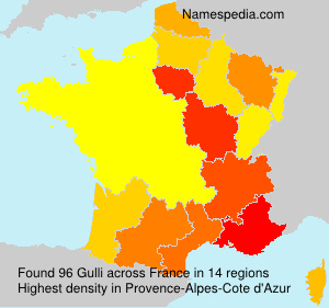 Surname Gulli in France