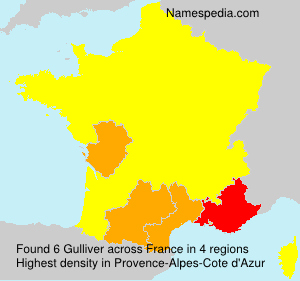 Surname Gulliver in France