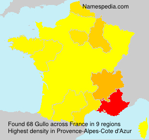 Surname Gullo in France