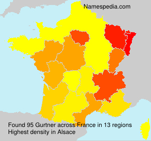 Surname Gurtner in France