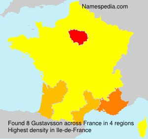 Surname Gustavsson in France