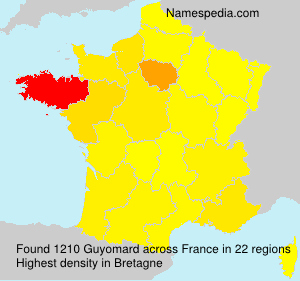 Surname Guyomard in France