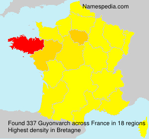 Surname Guyonvarch in France