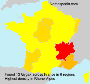 Surname Gygax in France