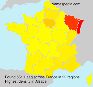 Surname Haag in France