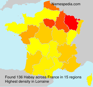 Surname Habay in France