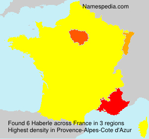Surname Haberle in France