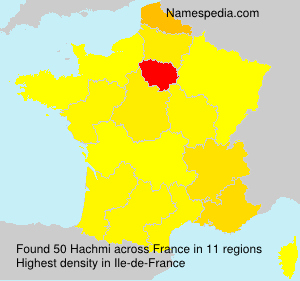 Surname Hachmi in France