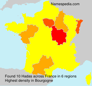 Surname Hadas in France