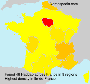 Surname Haddab in France