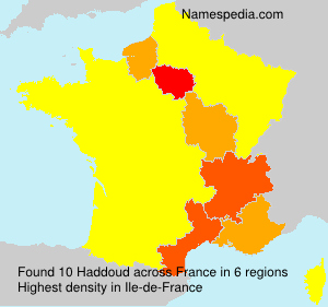 Surname Haddoud in France