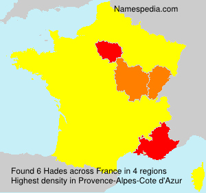 Surname Hades in France