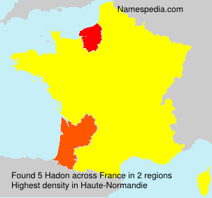 Surname Hadon in France