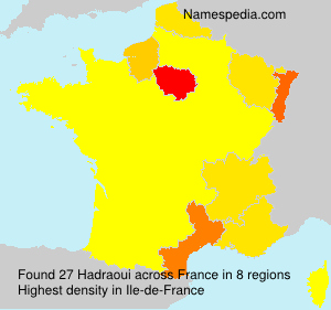 Surname Hadraoui in France