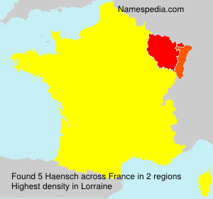 Surname Haensch in France
