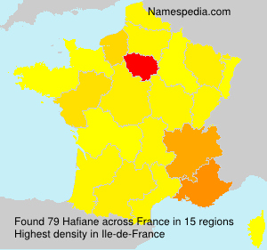 Surname Hafiane in France