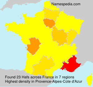 Surname Hafs in France