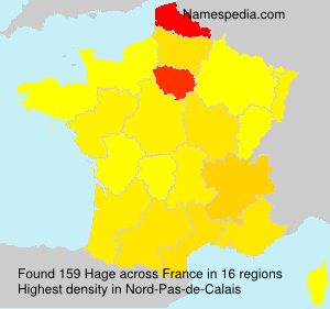 Surname Hage in France