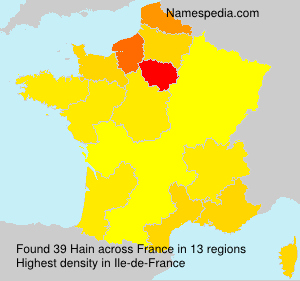 Surname Hain in France
