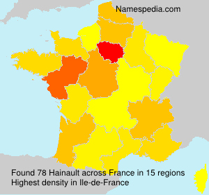 Surname Hainault in France