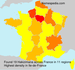 Surname Hakizimana in France