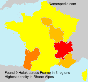 Surname Halak in France