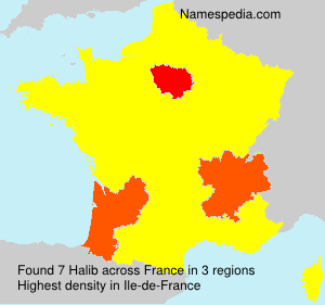 Surname Halib in France