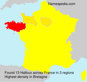 Surname Halloux in France