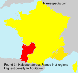 Surname Halsouet in France