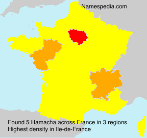 Surname Hamacha in France