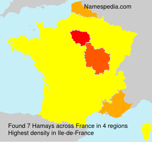 Surname Hamays in France