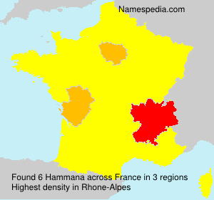 Surname Hammana in France
