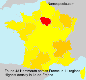 Surname Hammoum in France