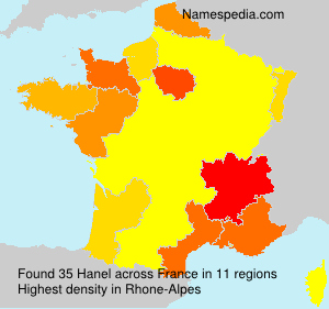 Surname Hanel in France