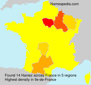 Surname Haniez in France