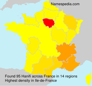 Surname Hanifi in France