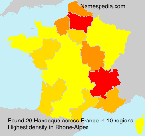 Surname Hanocque in France