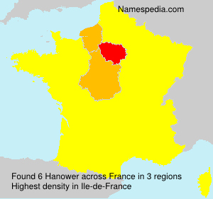 Surname Hanower in France